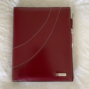 Vintage Franklin Covey Red Leather Journal NWOT